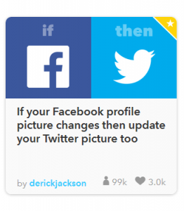 Screenshot IFTTT.com