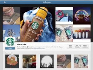 Starbucks Instagram-Account
