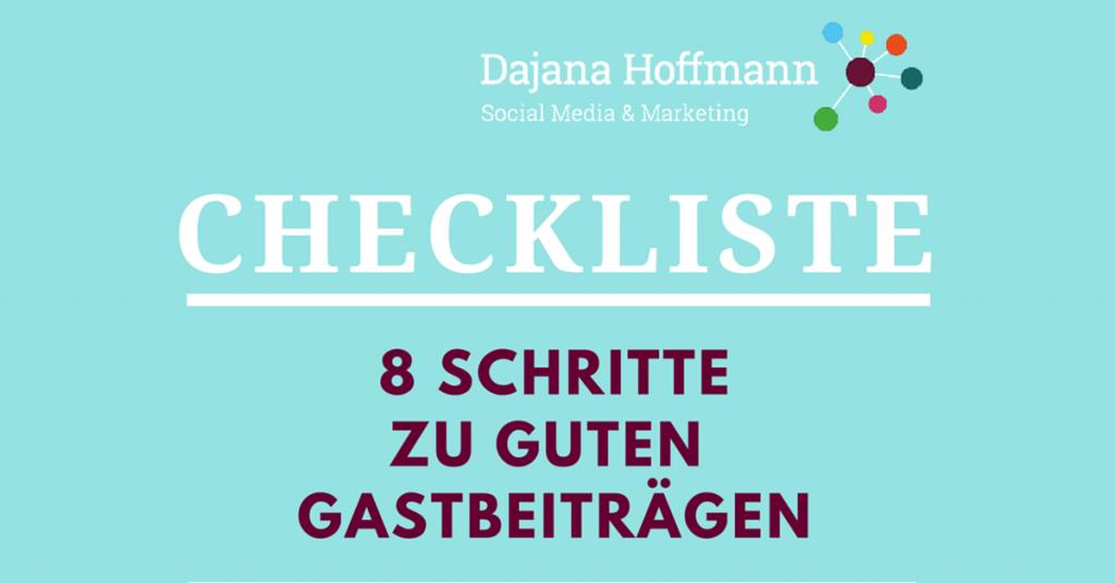 8Schritte zu guten Gastbeiträgen für Blogger [Infografik]
