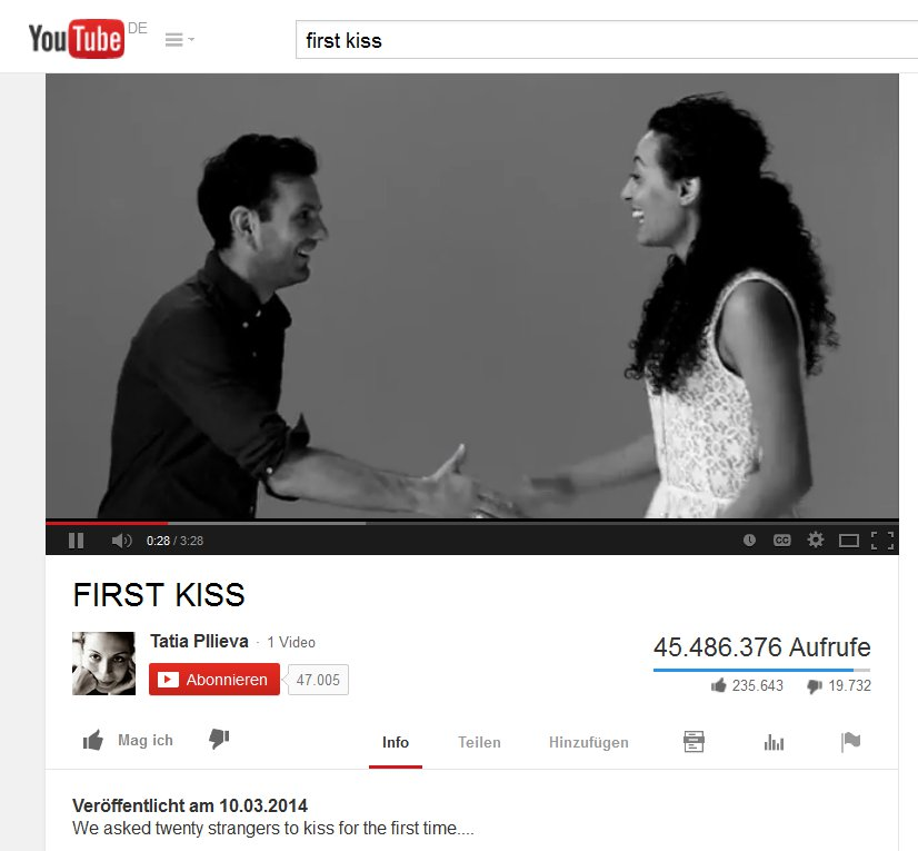 "Youtube-Video ""First Kiss"""