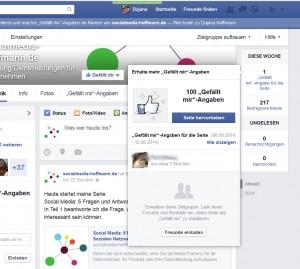 """""""Gefällt mir""""-Angaben einer Facebook-Seite"""