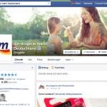 Die Facebook-Seite von dm