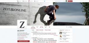 Das Twitter-Profil der Zeit Online