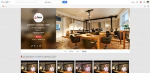 Die Unternehmensseite auf Google + wird hauptsächlich als Visitenkarte und Hinweis auf die Youtube-Seite genutzt.