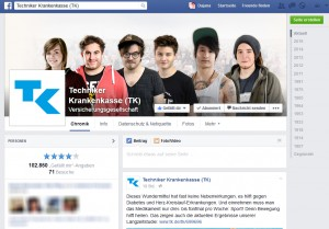 Die Facebook-Seite der Techniker Krankenkasse bietet ihren Fans viele interessante Themen rund um Gesundheit.