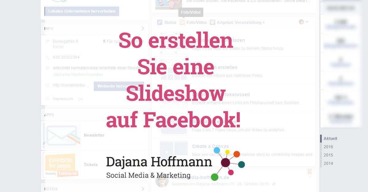 Slideshow auf Facebook erstellen – so geht es! [Video-Anleitung ...