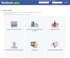 Facebook-Seite erstellen
