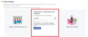 Facebook-Kategorie