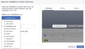 Facebook Seite einrichten Call to Action Button