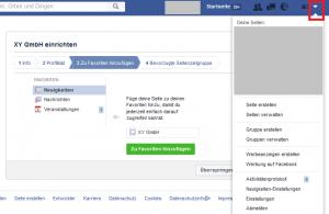 Facebook-Seite einrichten