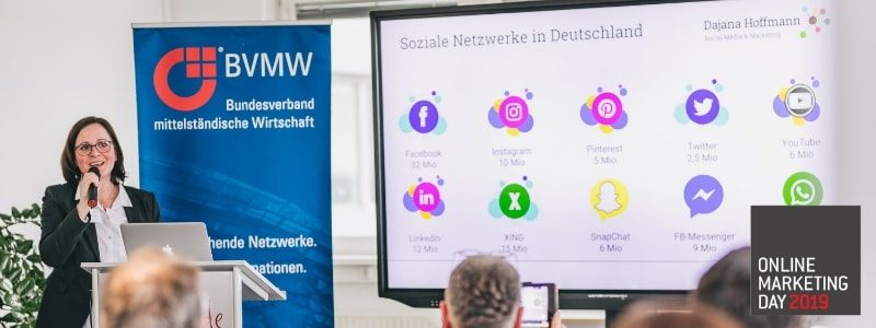 Vortrag Social Media für KMU - BVMW Online Marketing Day 2019 (fot. VOG Agency www.vogagency.de)